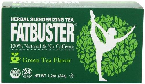 Fatbuster Herbal Slenderizing Tea Weight Loss Diet Tea, Green Tea Flavor, 24 Count (Pack of 6)