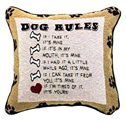 Dog Rules Pillow