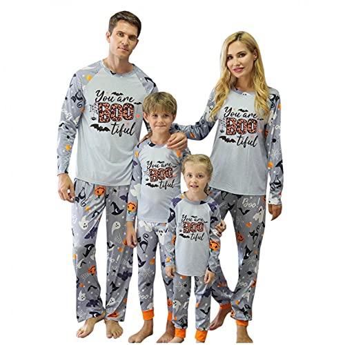 Weihnachten Schlafanzug Familie Damen Herren Kinder Junge Mädchen Pyjamas Set Langarm Nachthemd Top mit Hirsch Aufdruck Loose Schlafhose Schlafanzüge Hausanzug für Familien
