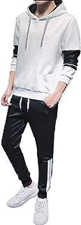 Maweisong Men 2 Piece Set Outfit Sport Suit Sweatsuit Hoodies Tracksuit