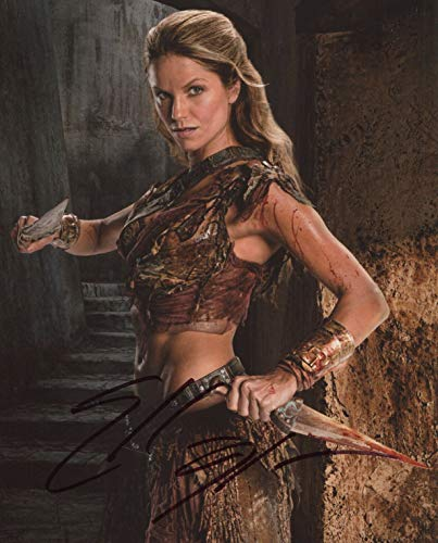 Ellen Hollman Signed Autograph Spartacus Saxa 8x10 Photo With COA pj