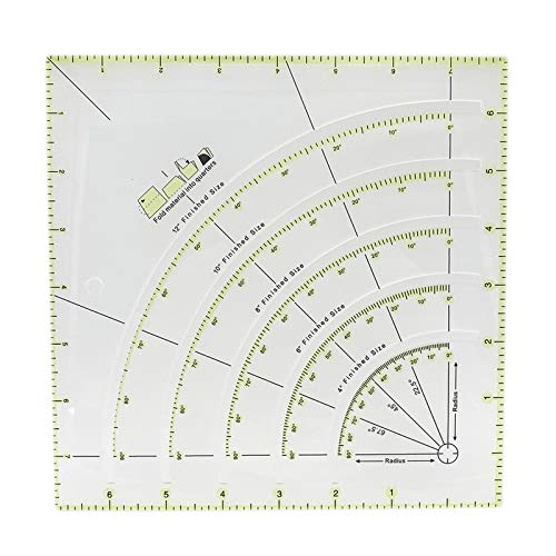 Wenyue Quilt Lineal Quilters Lineale Arcs Lineal Basteln Quilten Lineal Acryl Patchwork Lineal Quiltlineal Mit Gitterlinien Kreisschneider Lineal Quilting Lineal Zum Nähen Und Basteln Mit Exakten