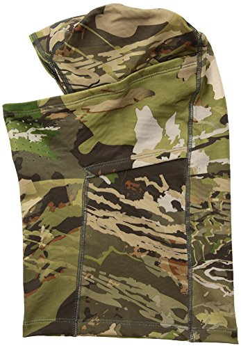 Under Armour Men's ColdGear Infrared Scent Control Balaclava , UA Forest Camo (940)/Black , One Size Fits All