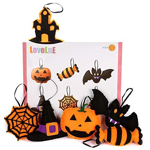 Halloween DIY kit, Halloween Decoration, Halloween Ornament, Craft kit for Kids, Kids DIY kit, Sewing Craft, Halloween Kids Activity, Halloween Craft Kits, Sewing kit