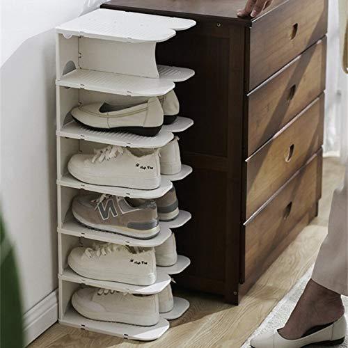 known - Scarpiera impilabile a 6 ripiani, creativamente pieghevole, salvaspazio, per armadio