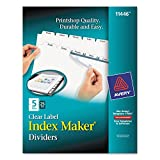 Avery 11446 Index Maker, Laser, Punched, 5-Tabs, 25 ST/BX, 8-1/2-Inch x11-Inch,CL
