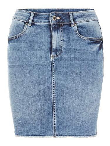 PIECES Damen Minirock Jeans Slight Blue Denim