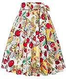 Belle Poque Elegante Falda a Cuadros para Mujer para Oficina Estilo Lápiz Ajustada a la Figura a Cua...