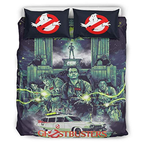 Comforter Bed Set Ghostbusters Elegant Printed Bedding for College Dorm Room & Home Bedroom Twin or Queen or King White 104x90 inch