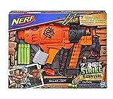 Hasbro Nerf Zombie Strike Survival System - Pistola de fusil de juguete para niño transformable con...