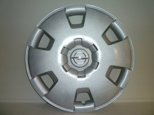 Lot de 4 Enjoliveurs Enjoliveur Boutons Clous de voiture Coupes Rivets Roue Opel Astra r 16 depuis 2005 / Opel Zafira r 16 depuis 2006 (Sc 468L) Logo Chromé