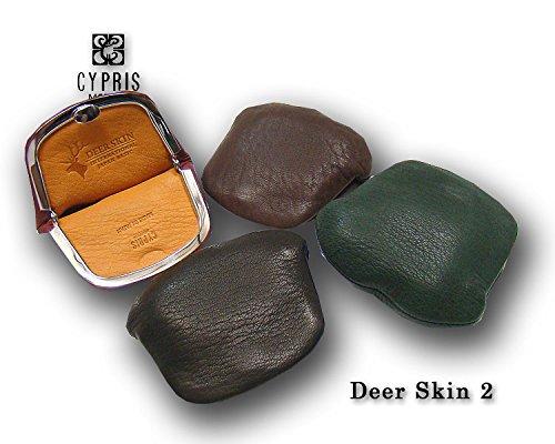 【キプリス/CYPRIS】DeerSkin2(ディアスキン2)小銭入れ・小(ガマ口・押し口型)2356(正規取扱店)(チョコ)