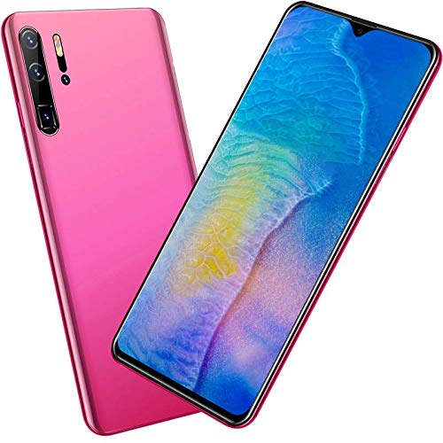 4G Phone 6.7'' Pulgadas 18:9 HD 2GB RAM 32GB ROM Android 10 Quad-Core 4800mAh Batería Dual SIM Dual Cámara 8MP Face ID -Rosado