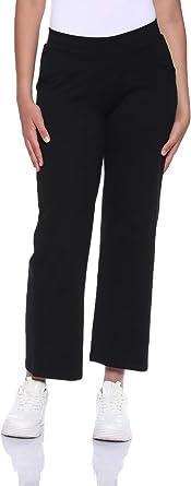 Carina Cotton Straight-Fit Elastic Waist Pajama Pants for Women