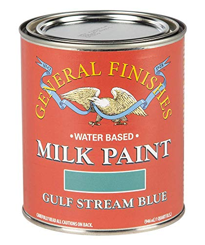 General Finishes Water Based Milk Paint, 1 Quart, Gulf Stream Blue