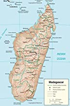 A Map of Madagascar in Africa Journal: Take Notes, Write Down Memories in this 150 Page Lined Journal