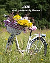 2020 Weekly and Monthly Planner: Flowers in Bicycle - Monthly Calendar with U.S./UK/ Canadian/Christian/Jewish/Muslim Holidays– Calendar in Review/Notes 8 x 10 in.-Tropical Island Travel Vacation