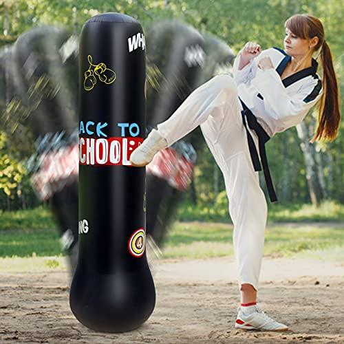 TBCWRH Saco de Boxeo de Pie para Adultos, 160 cm Entrenador de Boxeo, Compañero de Boxeo, Ejercicio Boxeo Objetivo Bolsa