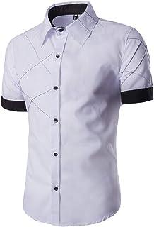 Men Shirt Male Short Sleeve Hawaiian Shirts Casual Fashion Slim Fit