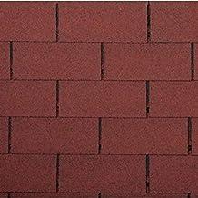 Bitumen dakshingles rechthoekige vorm baksteenrood 3 m² dak bitumenschindels baksteen afdichting