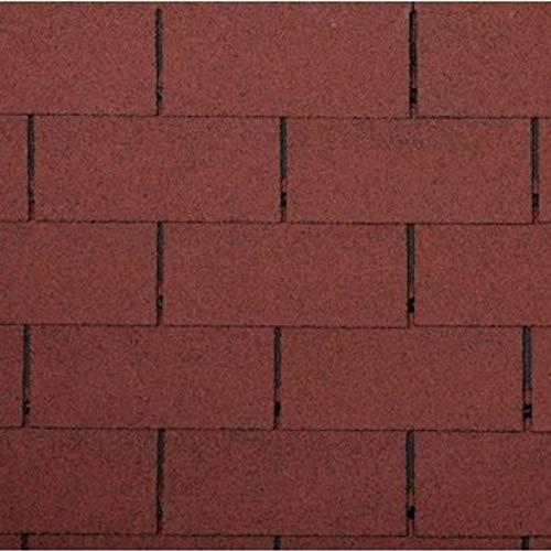 Bitumen Dachschindeln Rechteck Form ziegelrot 3m² Dach Bitumenschindeln Ziegel Abdichtung