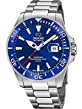 JAGUAR Reloj Modelo J886/1 de la colección AUTOMATICO, Caja de 43,5 mm Azul con Correa de Acero para Caballero