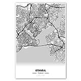 Zulumaps Poster 40x60cm Stadtplan Istanbul - hochwertiger