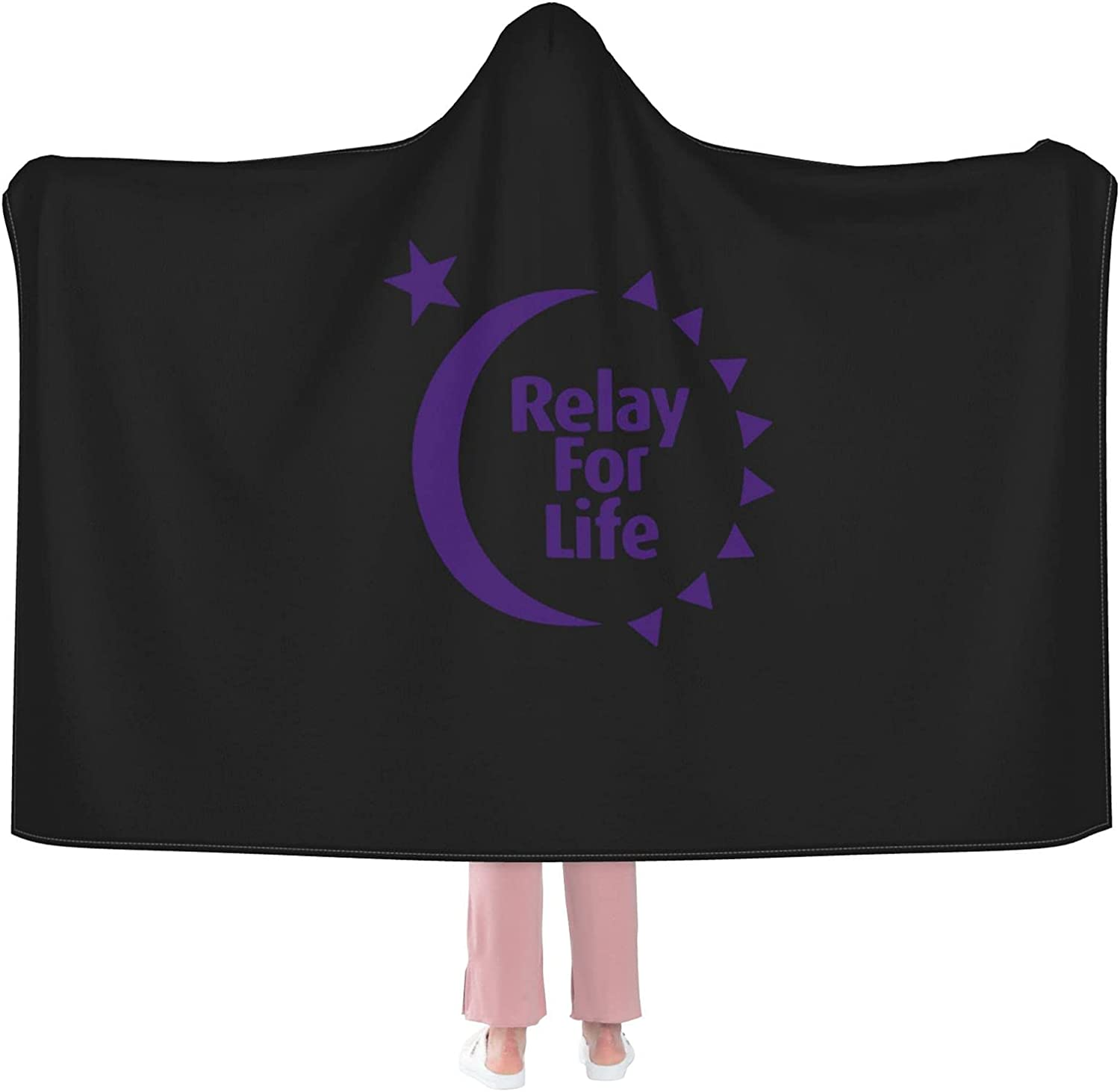 Relay for Life Hooded Houston Mall Blanket Throw Reservation Plush B Large