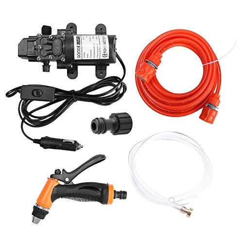 Terisass Wasserpumpe 12 V Elektroauto Hochdruckreiniger Pumpe 130PSI 80 Watt Fahrzeug Sprayer Power Pump System Kit Waschen Reinigungswerkzeug Universal