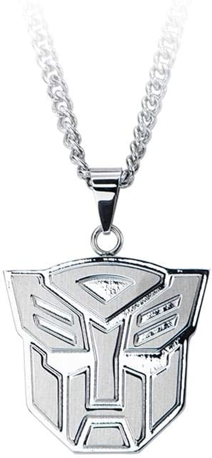 Transformers Autobots Logo Stainless Steel Pendant Necklace