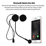 garsent Auriculares Bluetooth de Motocicleta, HiFi Estéreo