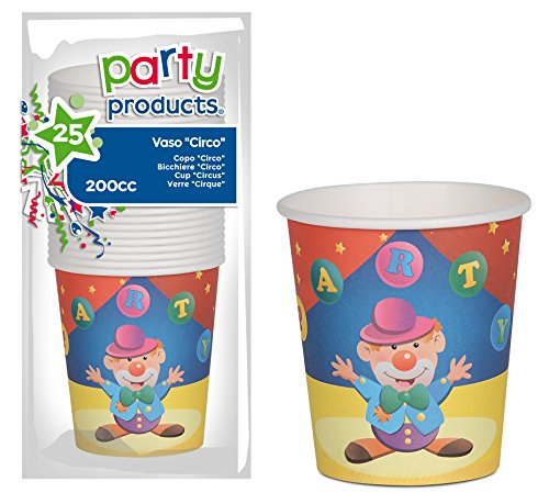 Party- Pack 25 papieren bekers Zirco (68220)