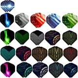 Haosell Juego de 63 plumas para dardos, color blanco, negro, rosa, rojo, morado, rosa, azul, verde, para dardos blandos y de acero