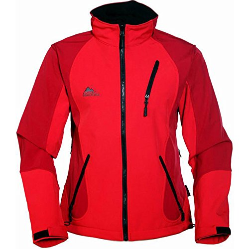 Cox Swain Titanium 3-Lagen Damen Softshell Jacke Forest - 10.000mm Wassersäule 2.000mm atmungsaktiv, Colour: Red, Size: XS