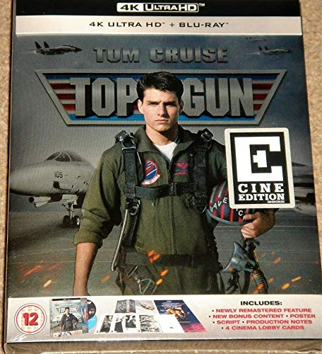 TOP GUN 4K ULTRA HD COLLECTORS EDITION / Import / INCLUDES BLU RAY / 4K DOLBY VISION / REGION FREE