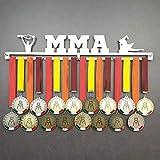 MMA - Colgador de medallas Deportivas - Medallero de Pared Artes Marciales Mixtas, Free-Fight - Sport Medal Hanger - Display Rack (600 mm x 100 mm x 3 mm)