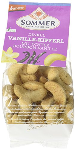 Sommer Dinkel Vanille-Kipferl mit echter Bourbon vegan, demeter, 6er Pack (6 x 150 g)