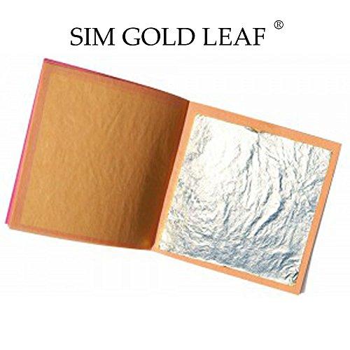 10 Stück Blatt silber Lebensmittel 40 mm x 40 mm Essbar 100% 999/1000 PUR