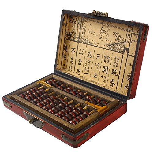 Larcele Vintage Ábaco de Madera Calculadora China Materiales Matemáticos sp-01
