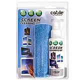 Screen Cleaning Kit Pulizia Schermo BIO -Spray 120 ml + Panno Microfibra(20X28), Antibatterico CERTIFICATO Disinfettante...