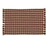 Park Designs Gingham Placemat Wine - Set of 4