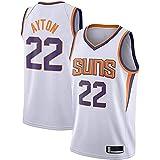 CYQQ Deandre Ayton Phoenix Suns # 22 Estilo Blanco Camiseta de Baloncesto para Hombre, Uniforme de Baloncesto para Hombre, Chaleco Deportivo, Camiseta para Fanáticos(Size:M,Color:A1)