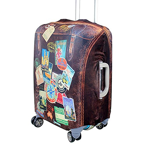 Travel Rolling Luggage cover - ISEYMI Travel New Design Luggage Sets Suitcase Cover For Women, Kids,18-32inch Luggage, Super Elasticity Large Cover, Heavy-duty, 2-year Warranty