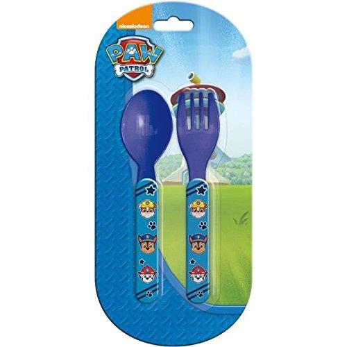 Set de couverts Plastique pour enfant Pat'Patrouille BLEU FONCE - Fourchette Couteau Repas Bebe - 822