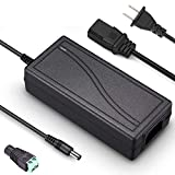 汎用ACアダプター 12V 5A 電源アダプター 60W最大 LED テープライト ビデオ・監視カメラ用 12V DCアダプター 電源アダプター AC100V→DC12V 変換アダプター AC-DCコンバーター 安定化電源 (DC12V~5A)