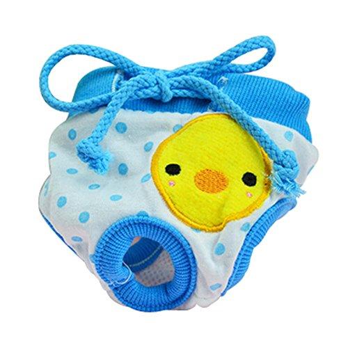 Chiens Pantalons Physiques Blue Duck Animaux sous-Vêtements pour Puppy, Taille S