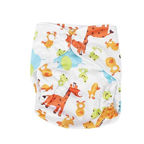 Fralda de pano reutilizável, fraldas de bolso de lã polar ajustáveis e laváveis à prova d'água para bebê infantil (A51)
