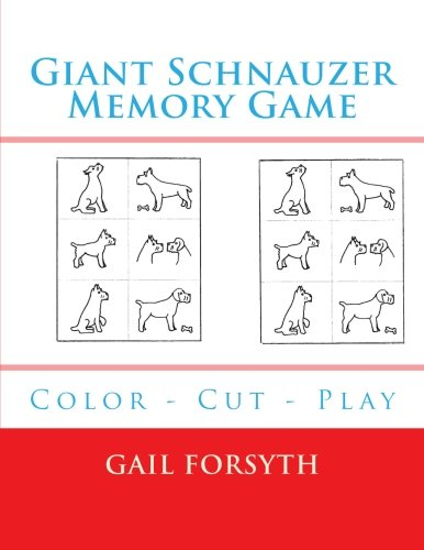 Giant Schnauzer Memory Game: Color - Cut - Play
