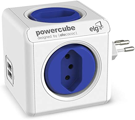 Multiplicador 4 Tomadas Bivolt e 2 USB 2.4A, Elg, PWC-R4U