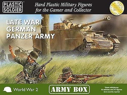servicio honesto 15mm Late War German Panzer Panzer Panzer Army (negro BOX) by Plastic Soldier Company  ventas de salida